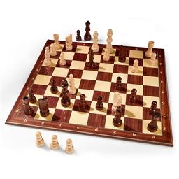 Jeu traditionnel duo échecs & dames