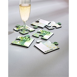 Dessous de verre puzzle 100 euros