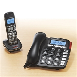 Téléphone combi noir