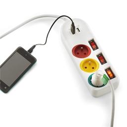 Multiprise trio USB