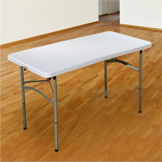 Table pliable blanche : 120 ou 180 cm